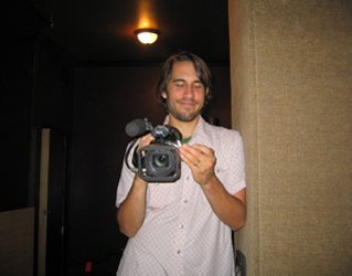 Director Tom Chilcoat. Tom is documenting the making of the record.