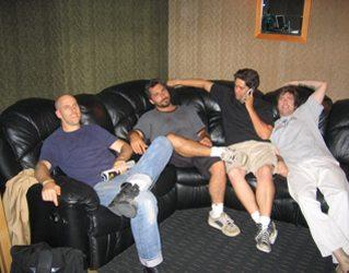 The hard working Sid Hillman Quartet.
