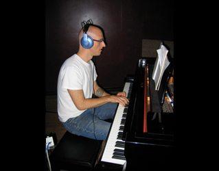 Recording some piano.