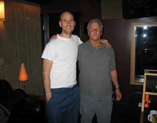Sid and his Uncle Chris who came down to record some mandolin on a couple of songs.