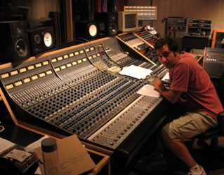 Engineer Pete Dirado. Pete's worked on every Quartet record and will be mixing this one as well.