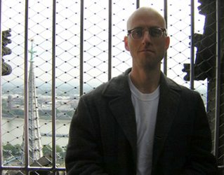 Sid at the top of the Cologne Cathedral.